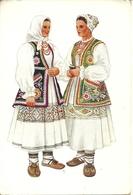 Costumi Nazionali Croati, Vugrovec Donji (Croazia) Vladimir Kirin Illustratore - Costumi