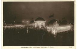 REAL PHOTOGRAPHIC POSTCARD PROMENADE AND BANDSTAND - HASTINGS BY NIGHT - Hastings