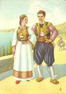 Costumi Nazionali Croati, Dalmazia, Konavlje (Canali) (Croazia) Milan Vukic Illustratore - Costumi