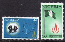 NIGERIA - 1968 HUMAN RIGHTS YEAR SET (2V) FINE MNH ** SG 209-210 - Nigeria (1961-...)