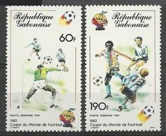 GABON 1982 - WORLD CUP SPAIN'82 - - YVERT Nº PA 242/243** - Gabón (1960-...)