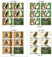 Tajikistan. 2019 Owls. 4 M/S Of 5 + Label - Tajikistan