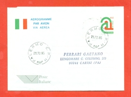 INTERI POSTALI-  - AEROGRAMMI - A28-FDC - VIAGGIATO - Francobolli