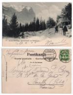 (Suisse) Berne 117, Grosse Scheidegg, Bergeret & Co 4031, Schwarwald Und Wetterhorn, Dos Non Divisé - BE Bern