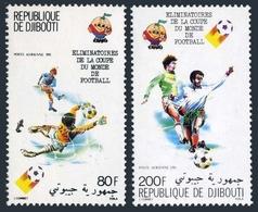 DJIBOUTI 1982 - CAMPEONATO DEL MUNDO DE FUTBOL ESPAÑA'82 - YVERT Av 147/148** - Yibuti (1977-...)