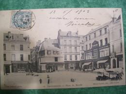 TRÈS RARE - CARTE POSTALE - CHÂTELLERAULT - PLACE DU MARCHE - - Chatellerault