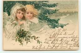 N°13171 - Deux Anges Sous La Neige - Noël