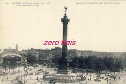 75 - Paris - Place De La Bastille Et Colonne De Juillet - Piazze