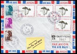 SAINT-PIERRE-ET-MIQUELON  975 Enveloppe Cover En Recommandé Saint Pierre 11 05 1989 - Storia Postale