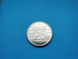 PAYS BAS   25 Cents  1987   -- Sup -- - [ 3] 1815-… : Koninkrijk Der Nederlanden
