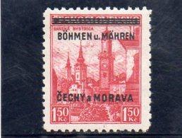 BOHEME ET MORAVIE 1939 ** - Neufs