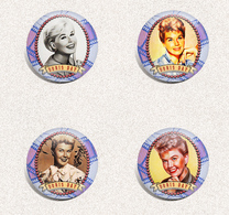 115 Doris Day Music Movie Film Fan ART BADGE BUTTON PIN SET  (1inch/25mm Diameter) - Music