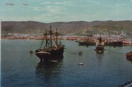 Triest (Triest) * Hafen, Schiffe, Dampfer, Stadtteil * Italien * AK054 - Trieste
