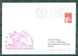 MARCOPHILIE - FASM GEORGES LEYGUES G.E.A.O.M. 2001 - 2002 Flamme Du PH Du 22 - 4 - 2002 - Poste Navale