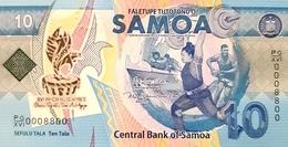 SAMOA 10 TĀLĀ ND (2019) P-45a UNC COMMEMORATIVE [WS121a] - Samoa