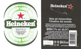 OLANDA - Etichetta Birra Beer Bière HEINEKEN Etichetta Adesiva - Birra