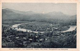 CPA 38  ISERE - Duphinè - LA TRONCHE - L'Isère , L'Ile Verte - Perspective Sur Grenoble - Coloré Vert - La Tronche
