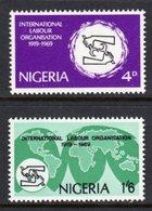 NIGERIA - 1969 ILO INTERNATIONAL LABOUR ORGANISATION SET (2V) FINE MNH ** SG 235-236 - Nigeria (1961-...)