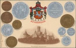 Pattensen Schloss Marienburg Heraldik Münzen AK 1908 Prägekarte - Zonder Classificatie