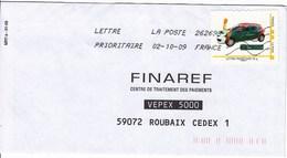 """MonTimbraMoi Personnalisé MTAM """"GROUPAMA"""" Lettre 20gr, Oblitéré Sur Lettre Du 02-10-09 - France"""