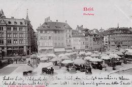 Basel Marktplatz - 1901 - BS Basel-Stadt