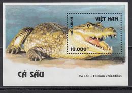 Vietnam, 1994   Yvert Nº HB 83  MNH, Caimán De Anteojos - Reptiles & Amphibians