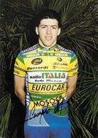 CARTE CYCLISME STEFANO CASAGRANDE SIGNEE TEAM SELLE ITALIA 1990 - Cyclisme