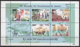 Vietnam, 1991 Yvert Nº 1183 / 1189  MNH, Barcos, 500 Aniversario Del Descubrimiento De América 1942 - 1992 - Bateaux