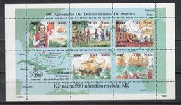 Vietnam, 1991 Yvert Nº 1183 / 1189  MNH, Barcos, 500 Aniversario Del Descubrimiento De América 1942 - 1992 - Cristóbal Colón