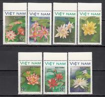 Vietnam, 1987  Yvert Nº 847E / 847L MNH,  Flores De Agua, Nenúfar Rosado, Nymphaea Lotus, Nymphaea Gigantea Hook, Etc - Végétaux