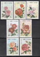 Vietnam, 1987  Yvert Nº 855 / 861,  MNH, Rosa De Littondarling, Phin Bruxo, Climbing Rose, Etc - Rosas