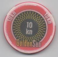 Jeton De Casino Gólden Sun 10 Kuna Croatie - Casino