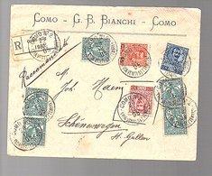 1905 COMO No. 2 G.B. Bianchii > Schönenwegen St. Gallen Suisse (237) - 1900-44 Vittorio Emanuele III