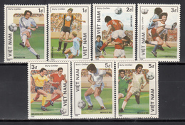 Vietnam, 1986 Yvert Nº 911 / 917  MNH, Copa Mundial De Fútbol 1986, - Copa Mundial