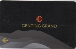 Carte De Casino Genting Grand Malaisie - Cartes De Casino