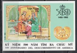 Vietnam, 1987  Yvert Nº HB 71   MNH, 500 Aniversario. Del Descubrimiento De América (1942 - 1992) - Cristóbal Colón
