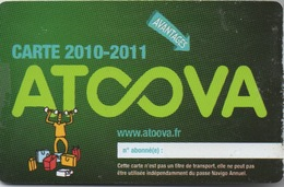 Carte AT♾VA 2010-2011 - Autres Collections