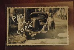 Automobile Rosengart Carte Photo Et 2 Fillettes Photographie Prise En 1949 - Automobiles