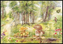 Slovenia 1996 - Funghi, Foglietto MNH** - Slovenia