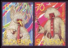 Slovenia 1996 - Folclore, Maschere Tradizionali Di Carnevale, 2v MNH** - Slovenia
