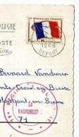 """Cachet Double Couronne """"19e Régiment Génie"""" Circ 1966, CP Entrée C.P.C.I. N°1 & Entrée 19e Reg Génie à Besançon - Military Postmarks From 1900 (out Of Wars Periods)"""