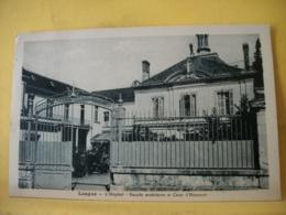 49 5382 CPA 1935 - 49 LONGUE. L'HOPITAL. FACADE EXTERIEURE ET COUR D'HONNEUR - EDIT. GOMPERE. - France
