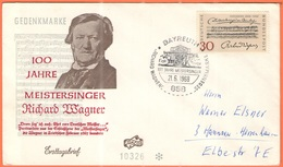 GERMANIA - GERMANY - Deutschland - ALLEMAGNE - 1968 - 100 Jahre Die Meistersinger Von Nürnberg - FDC - Bayreuth - FDC: Buste