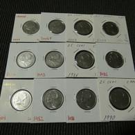 Canada 23 Coins 25 Cents Different Dates - Münzen & Banknoten