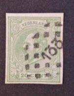Nederland/Netherlands - Nr. 24v Met Puntstempel 133 (ongetand) - Periode 1852-1890 (Willem III)
