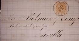 O) 1882 CIRCA - SPAIN, KING ALFONSO XII SC 252 15c, TO SEVILLA - 1875-1882 Royaume: Alphonse XII