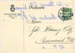 Neuer Reichsadler Lochung Perfin 1926 - Handelsgesellschaft Noris Zahn & Cie Essen - Cöln Köln - Allemagne
