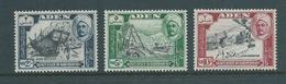 Aden Qu'aiti State Hadhramaut 1955 Pictorials Top 3 Values 2/- -> 10/- Fresh MLH - Aden (1854-1963)