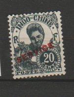 INDOCHINE         N°  YVERT  :  SERVICE   25   NEUF AVEC  CHARNIERES      ( 02/34   ) - Indochina (1889-1945)