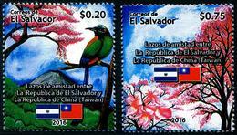 Salvador 2016 Diplomatic Relations With Taiwan Bird Trees SV272 MNH** - El Salvador